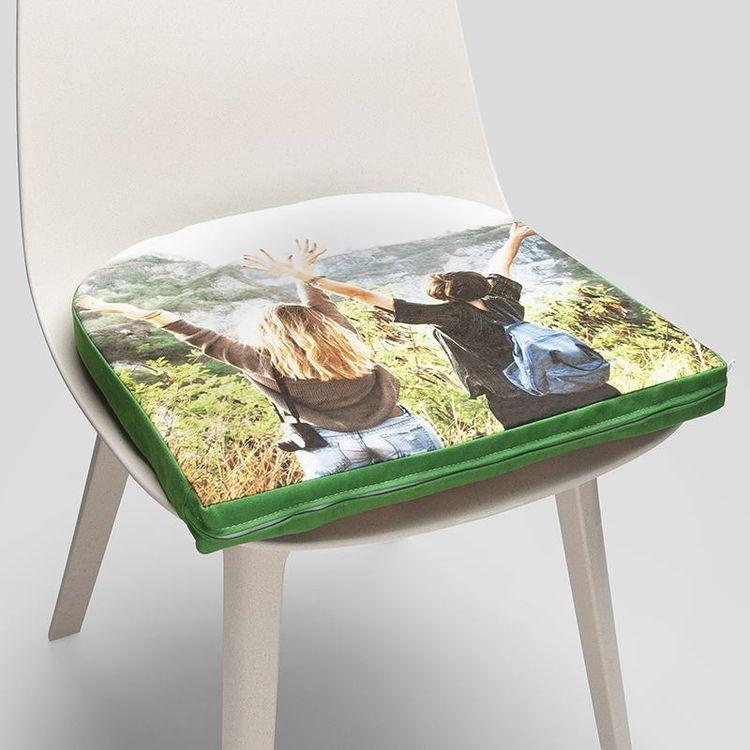 coussin de chaise personnalisé avec photo