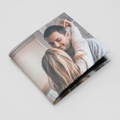 Läderplånbok med foto