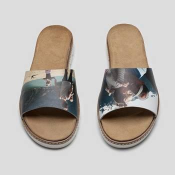 sandalias personalizadas de cuero para mujer fotos