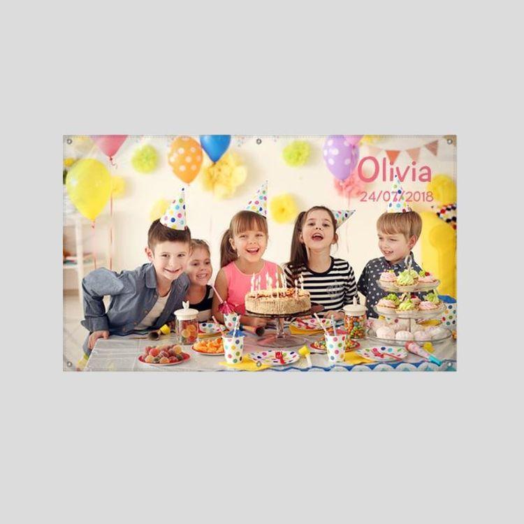 pancarta exterior personalizada cumpleaños
