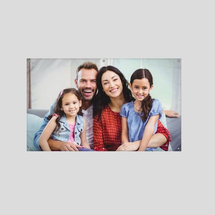 Pancarta personalizado fotos familia