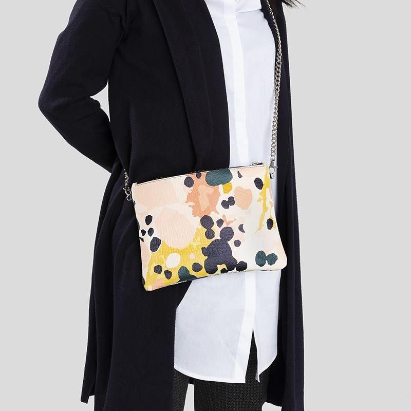 chain leather crossbody bag