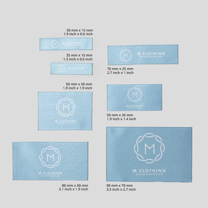 Etichette di tessuto piatte