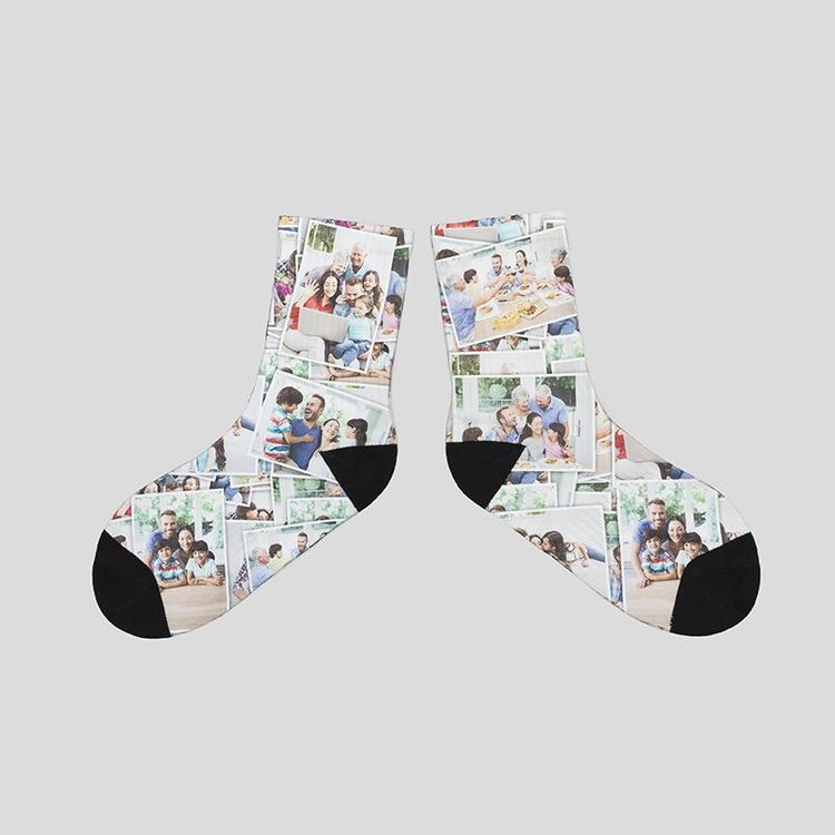 拼图设计袜子