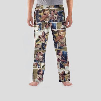 Herren Schlafanzughose mit Collage