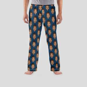 face pajama bottoms