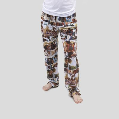 フォトコラージュ男性用パジャマボトム