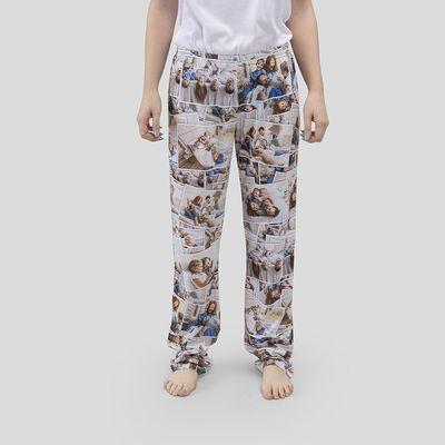 Pyjamasbyxor med fotocollage Dam