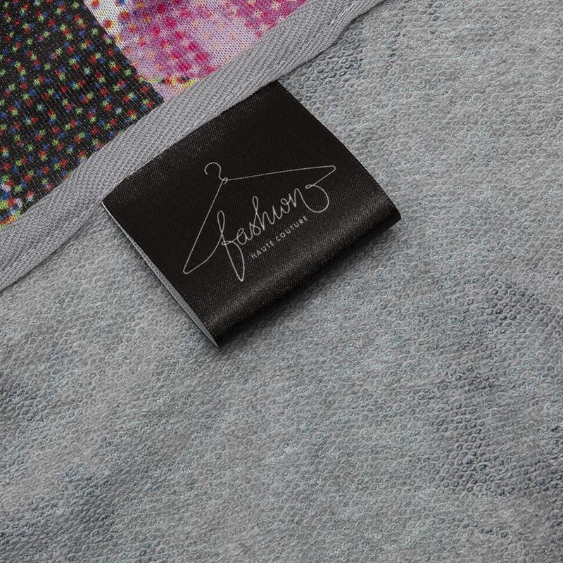 gevouwen bedrukte zijden stoffen labels