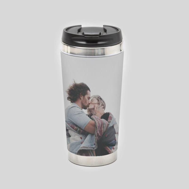 Personalised Travel Mug. Design A Photo Thermal Flask.