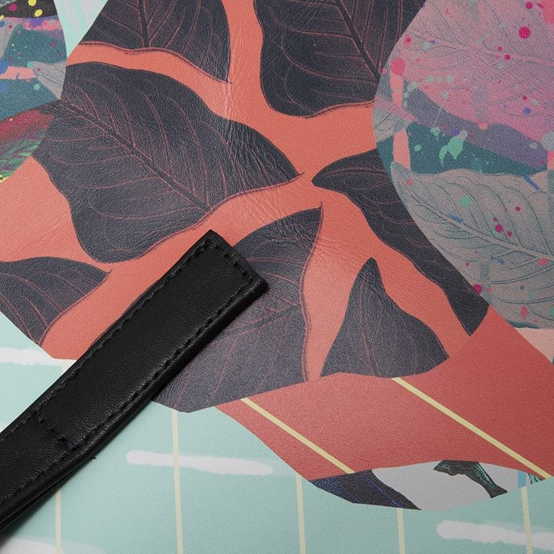 custom printed leather tote