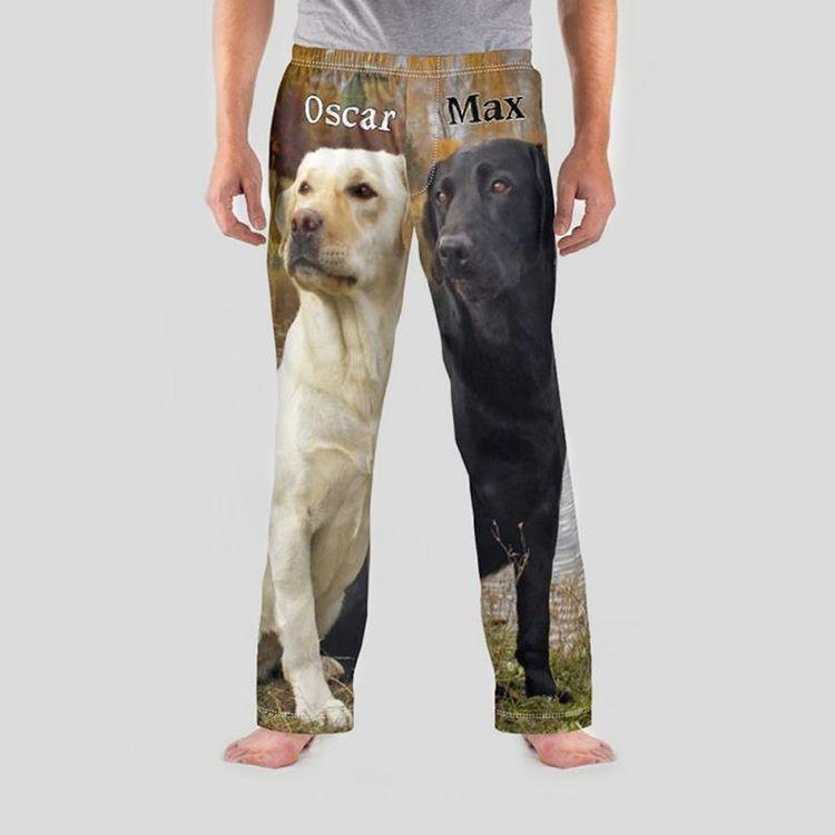 gepersonaliseerde herenpyjama hondenafbeelding