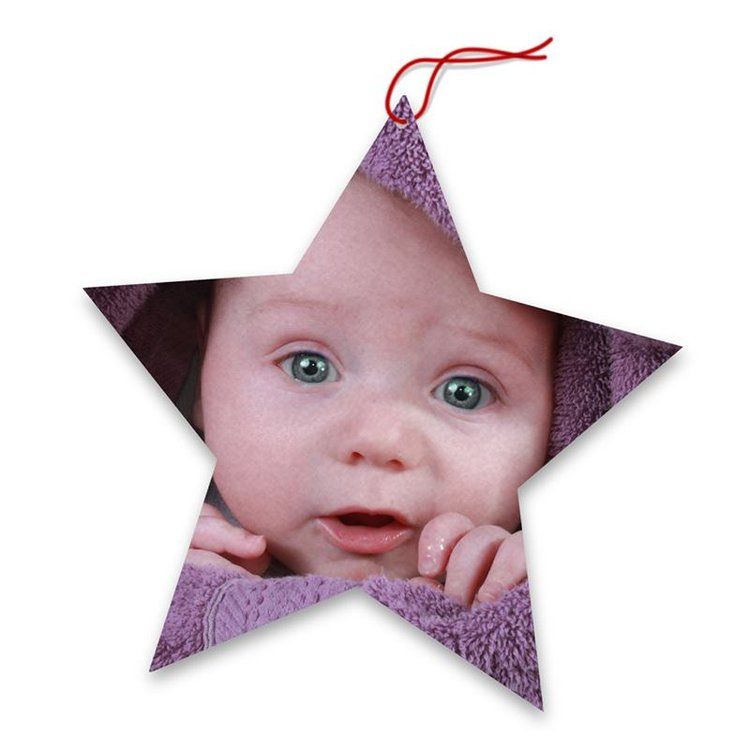 personalised photo christmas tree decoration