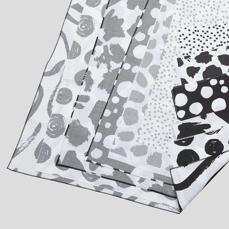 Chain print fabric edge example
