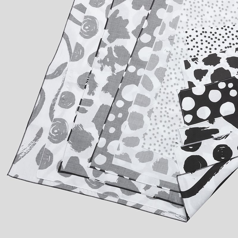digital Gaia Eco Woven printing folded pleats edge options