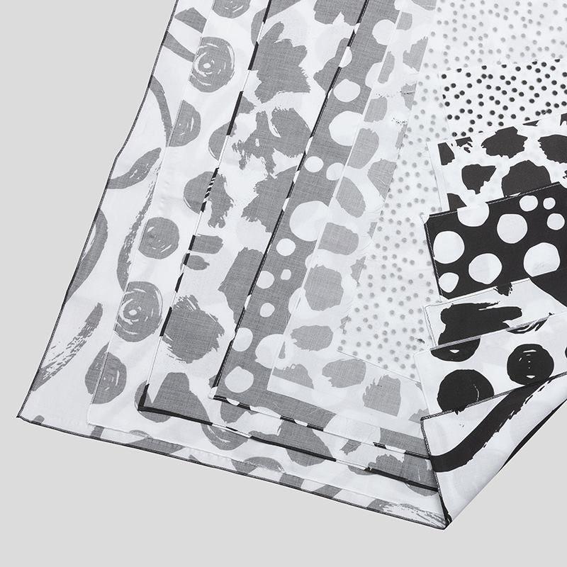 print on Organza fabric samples edge options