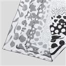 Silk Georgette digital print fabric texture detail edge options