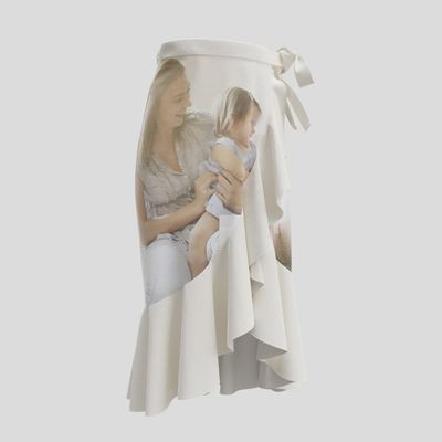 falda personalizada larga con volantes wrap skirt