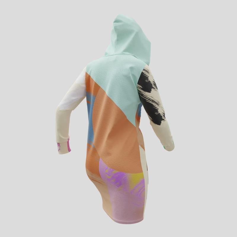 Impression sur la robe à capuche avec design