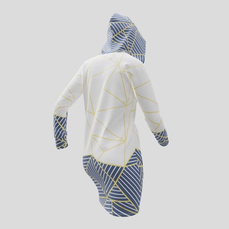 Arrière de la robe à capuche avec votre design