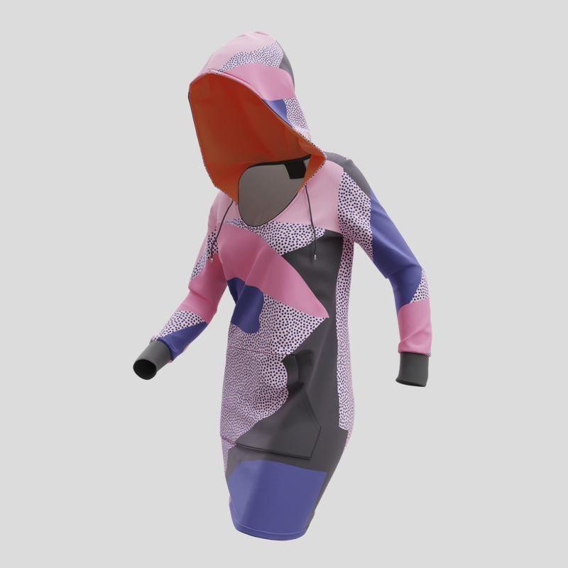 Hoodie Dress custom printed