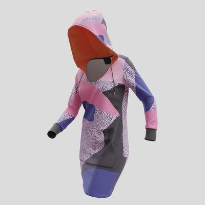 Robe à capuche imprimée