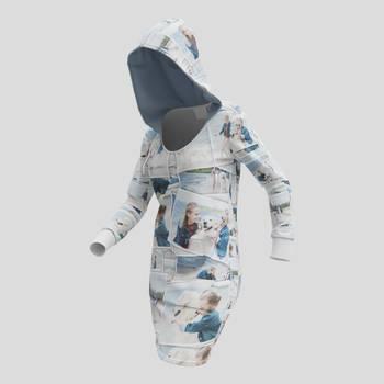 vestido con capucha sudadera personalizada fotos
