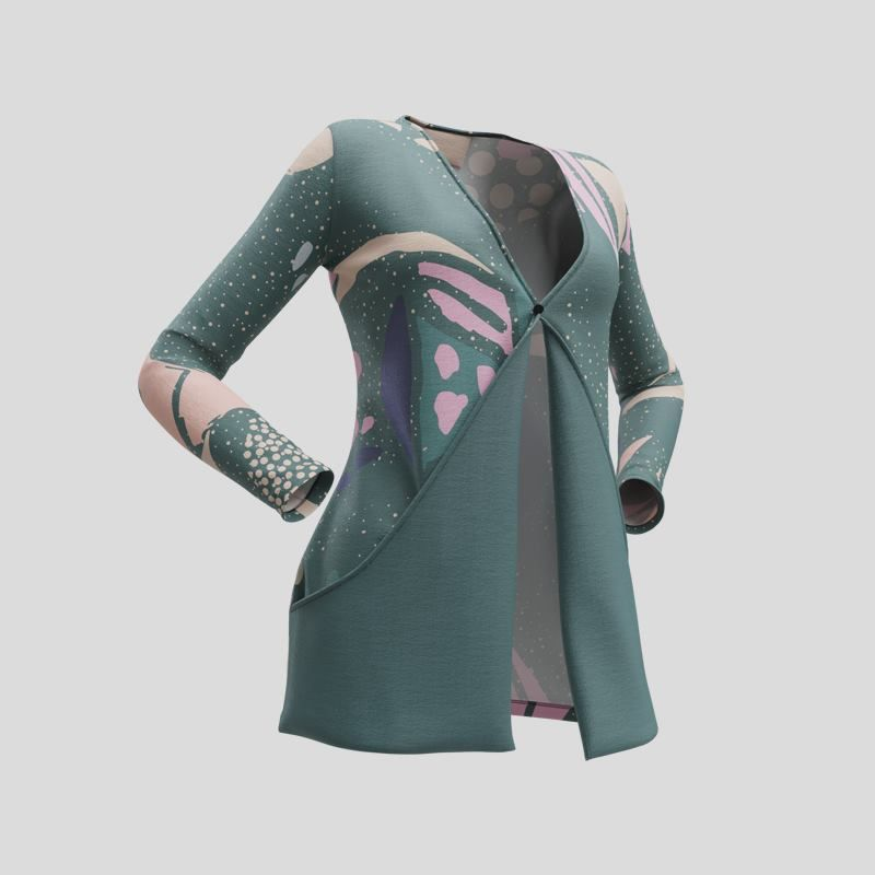 custom women's cardigan with pockets