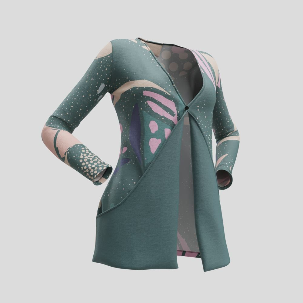 custom drop pocket cardigan