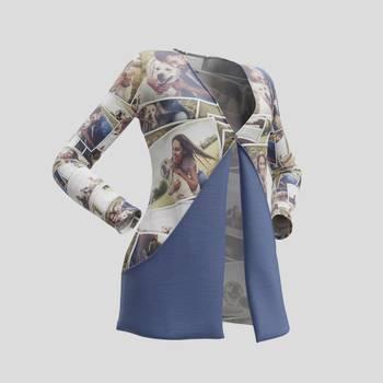 gepersonaliseerde cardigan met diepe zakken