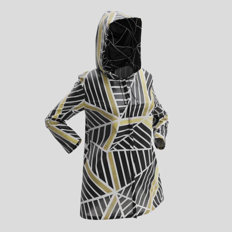 Veste imperméable avec design géométrique
