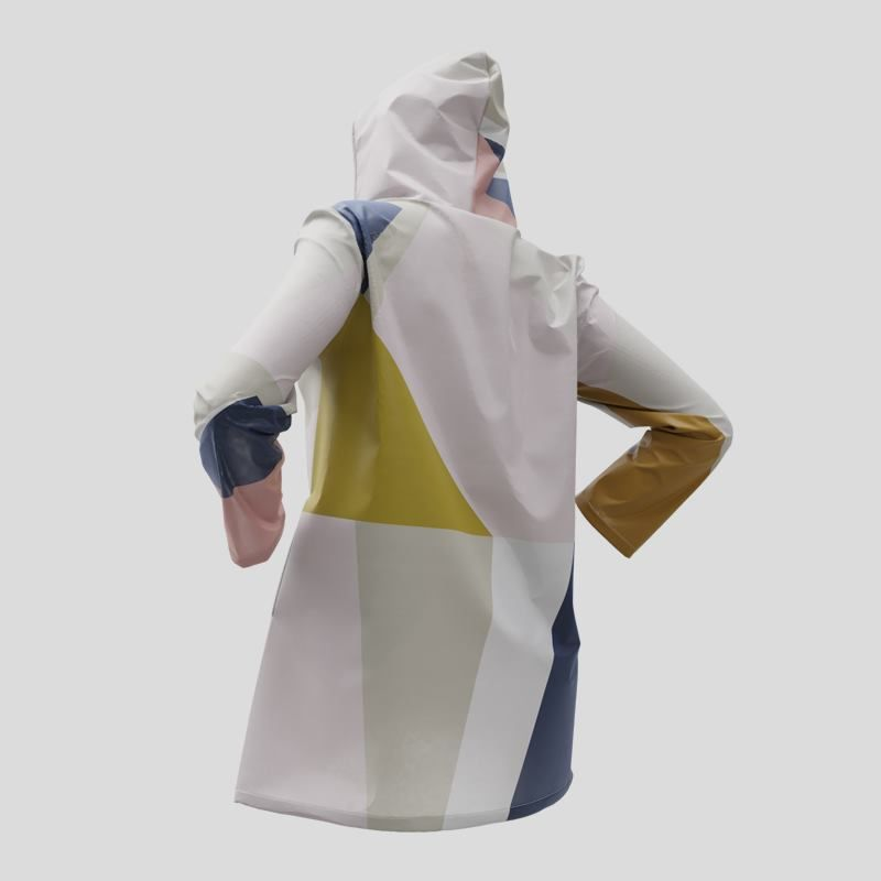 printed rain jacket