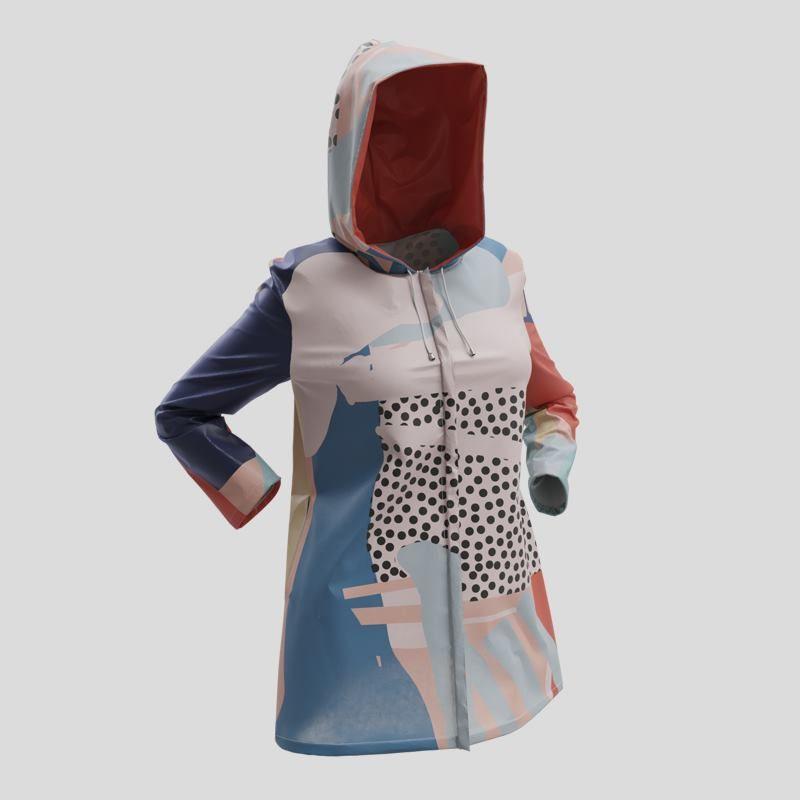 Veste imperméable avec design coloré