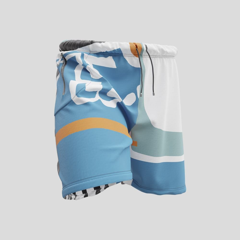mens sweat shorts custom printed