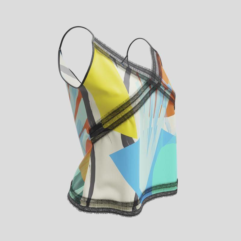 custom camis with lace trim