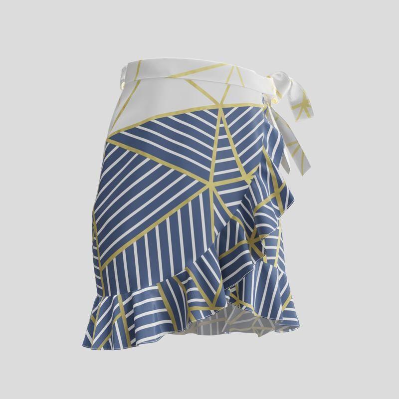 custom printed skirt with frill