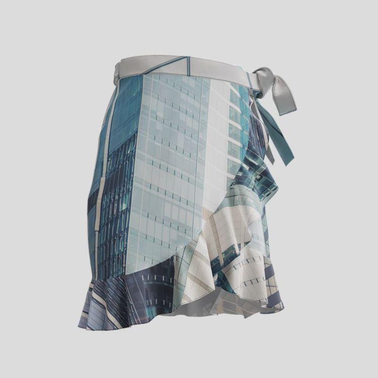 photo long flounce skirt