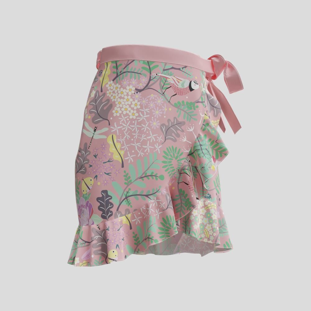 フラウンススカート ショート丈