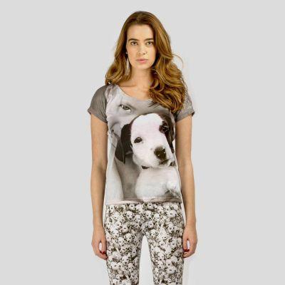 pyjama oberteil mit hund