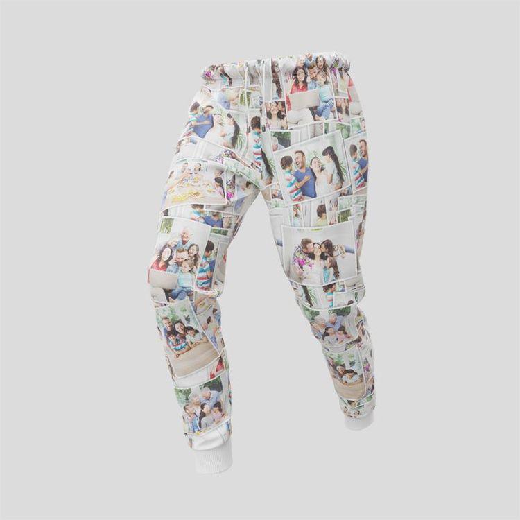 custom sweat pants collage