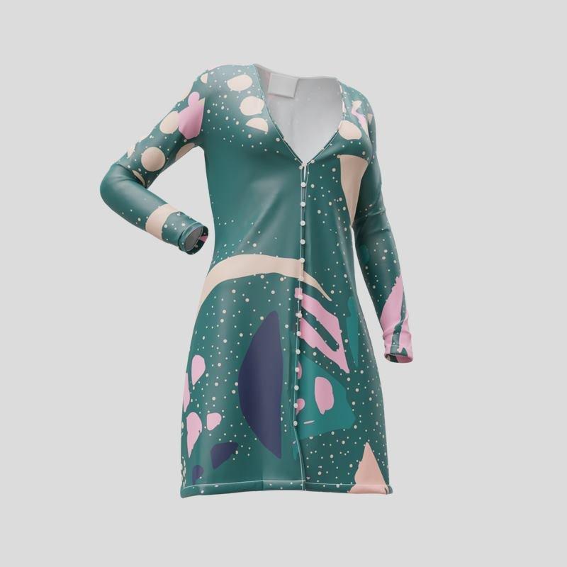 custom womens printed cardigan