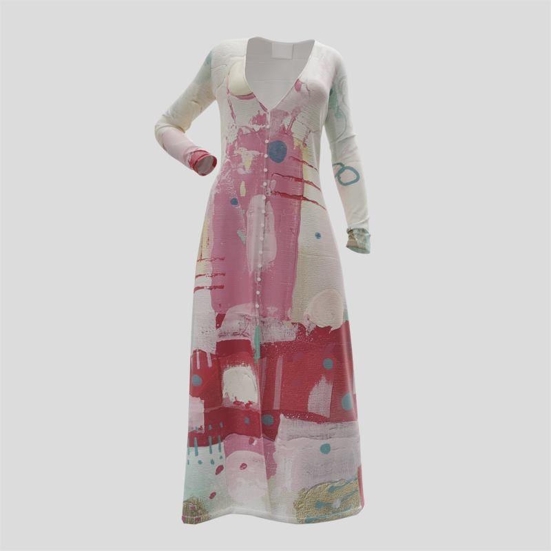 custom long sleeve button down dress