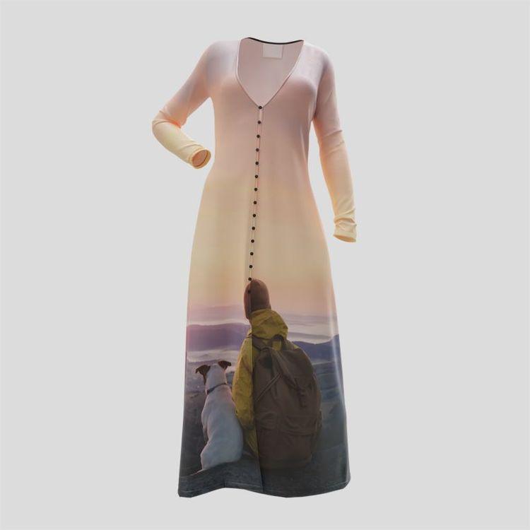 kleid mit knöpfen bedrucken