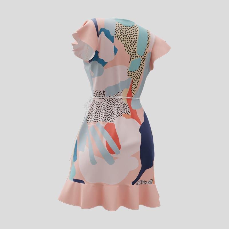 フレアラップドレス