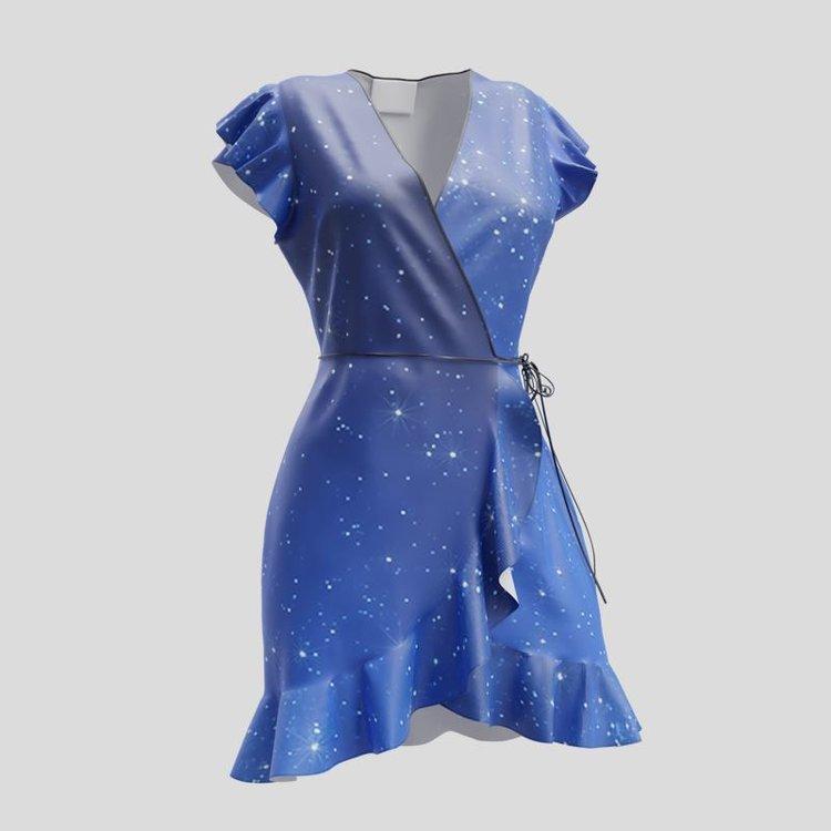 personalised mini flounce dress