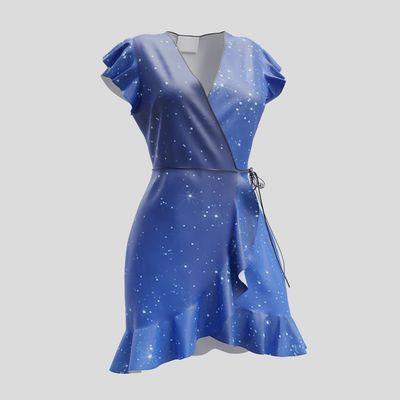 personalised wrap tea dress