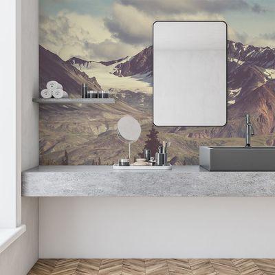 custom bathroom wallpaper