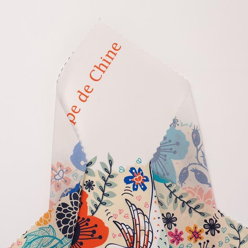 Tissu crêpe de Chine imprimé avec votre design