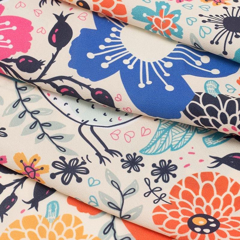 Impresión textil en Crepé de China