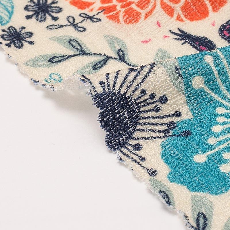 Détails d'impression du tissu Jersey tricot